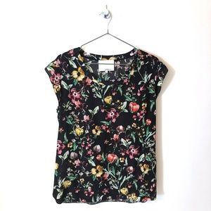 3.1 Phillip Lim Blouse | Black Floral Pattern
